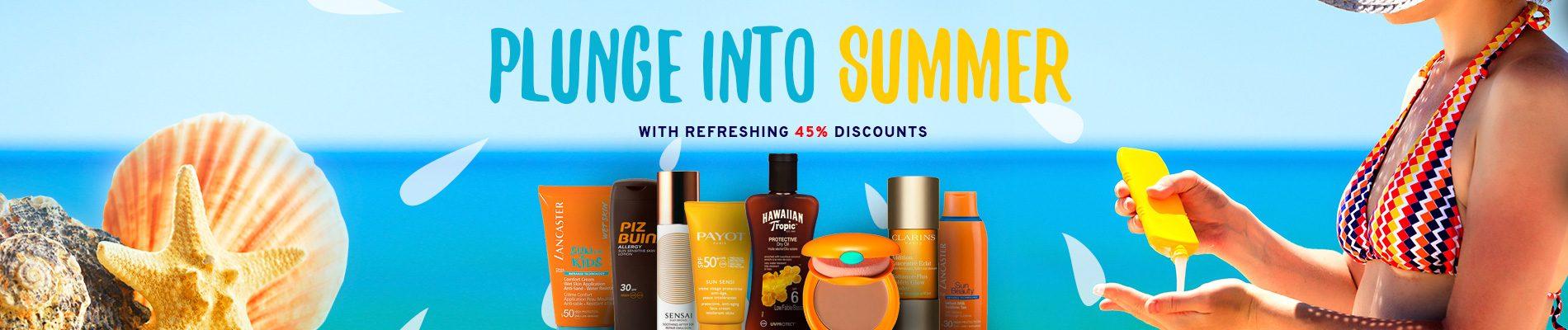 Duik de zomer in met verfrissende kortingen van 45%