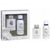 Real Madrid Eau De Toilette Vaporisateur 100ml Coffret 2 Produits 2016