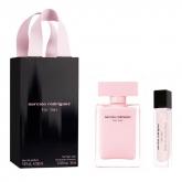 Narciso Rodriguez For Her Eau De Parfum Vaporisateur 50ml Coffret 2 Produits 2017