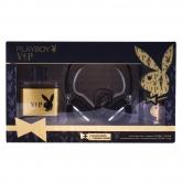 Playboy Vip Him Eau De Toilette Vaporisateur 100ml Coffret 3 Produits