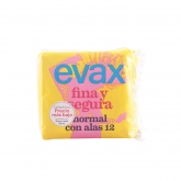 Evax Fina & Segura Normal With Wings Sanitary Towels 12 Units