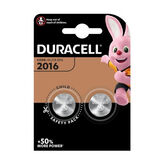 Duracell Lithium Button Battery 3V 2016 DL/CR2016 2 Units