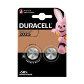 Duracell Lithium Button Battery 3V 2025 DL/CR2025 2 Units