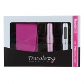 Travalo Pink and Silver 2x 5ml Coffret 3 Produits