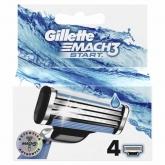 Gillette Mach3 Start Recharge 4 Unités