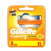 Gillette Fusion Power Recharge 8 Unités