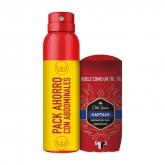 Old Spice Stick Déodorant Captain 50ml Et Déodorant Captain Vaporisateur 150ml