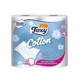 Foxy Cotton Papier Toilette 5 Couches 4 Rouleaux