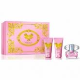 Versace Bright Crystal Eau De Toilette Vaporisateur 50ml Coffret 3 Produits