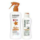Babaria Sun Kids Sunscreen Lotion Water Resistant Spf50 Spray 200ml Set 2 Pieces 2020