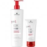 Schwarzkopf Bc Repair Rescue Shampoo 500ml Coffret 2 Produits
