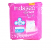 Indasec Pant Plus Large Size 12 Unités