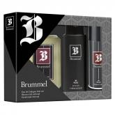 Puig Brummel Eau De Cologne 500ml Coffret 3 Produits