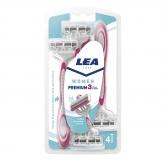 Lea Women Premium 3 Blades Disposable Blades 4 Units