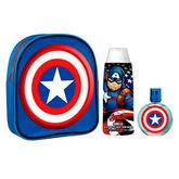 Captain America Eau De Toilette Vaporisateur 50ml Coffret 3 Produits