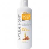 Natural Honey Gel De Douche Extra Nutritif 750ml