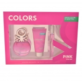 Benetton For Her Colors Pink Eau De Toilette Vaporisateur 50ml Coffret 3 Produits 2017