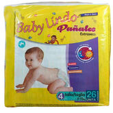 Baby Lindo Diapers T4 9-15 Kg 26 Units