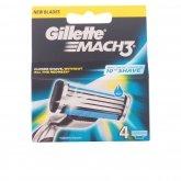 Gillette Mach3 Recharge 4 Unités