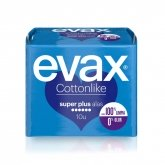 Evax Cottonlike Súper Plus With Wings 10 Units