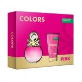 Benetton Colors Pink Eau De Toilette Vaporisateur 50ml Coffret 2 Produits 2016