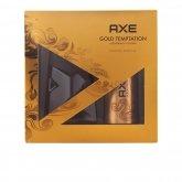 Axe Gold Temptation Eau De Toilette Vaporisateur 100ml Coffret 2 Produits