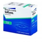 Soflens 38 Lenses With Tint Visibility -3.75 BC/87 6 Units