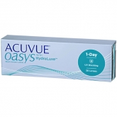 Acuvue Oasys Hydraluxe Contact Lenses 1 Day Replacement -3.00 BC/8.5 30 Units