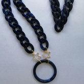 Farmamoda Sapphire Blue Glasses Necklace