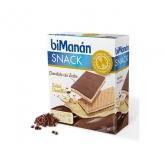 Bimanán Sustitutive Snack Chocolat Au Lait Fourré Vanille 120g