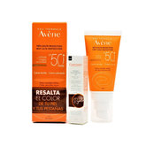 Avene Sol Cream Color Spf 50+ 50ml + Eyelashes Mask Gift