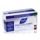 Phytolium 4 Traitament Antichute Homme Chutes De Cheveux Sévères, Héréditaires 12x3.5ml