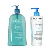Bioderma Atoderm Shower Gel 1l + Cream 500ml