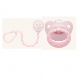 Nuk Rose And Blue Sucette  Et Attache 6-18m