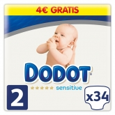 Dodot Protection Plus Sensitive T-2 34 Unités