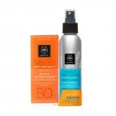 Apivita Face Cream Anti Rides Spf50 50ml Coffret 2 Produits