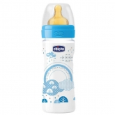 Chicco Well-Being Caoutchouc Biberon PP Medium Flux Blue 2m+ 250ml