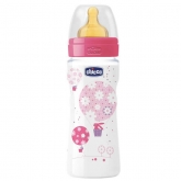 Chicco Well-Being Caoutchouc Biberon PP Fast Flux Rose 4m+ 330ml