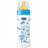 Chicco Well-Being Caoutchouc Biberon PP Fast Flux Blue 4m+ 330ml