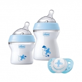 Chicco Naturalfeeling Baby Bottle 0m+ Blue Set 3 Pieces 2019