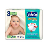 Chicco  Dry Fit&Fun Maxi Taille 3-9kg 21 unités