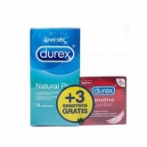 Durex Love Sex Natural Plus 12 Condoms + 3 Sensitive