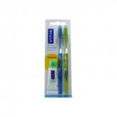 Vitis Brosse À Dents Medium Double Pack + Dentifrice Vitis 15ml