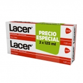 Lacer Pâte Dentifrice 2x125ml