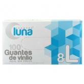 Guantes Luna Gants Vinyle Taille L 100 Unités