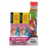 Fluor Kin Childish Toothpaste Strawberry Flavor 2x150ml