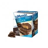 Bimanan Sustitutive Snacks Bonbons Croustillants au Chocolat 10 Unités