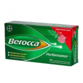 Berocca Performance 30 Comprimés Effervescents Fruits Rouges