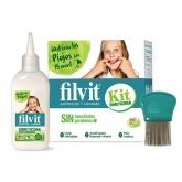 Filvit Dimeticona Anti Poux Lotion 125ml Coffret 3 Produits