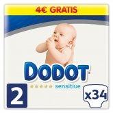 Dodot Protection Plus Sensitive T-2 34 Unités